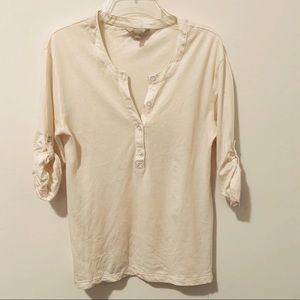 Banana Republic light dressy tee 3/4 sleeve XS